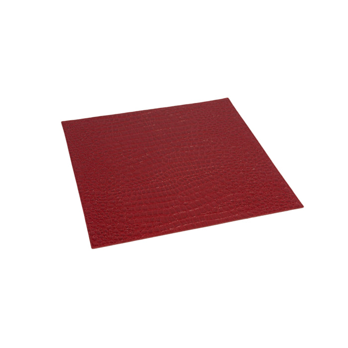 Square Red Alligator Place Mat