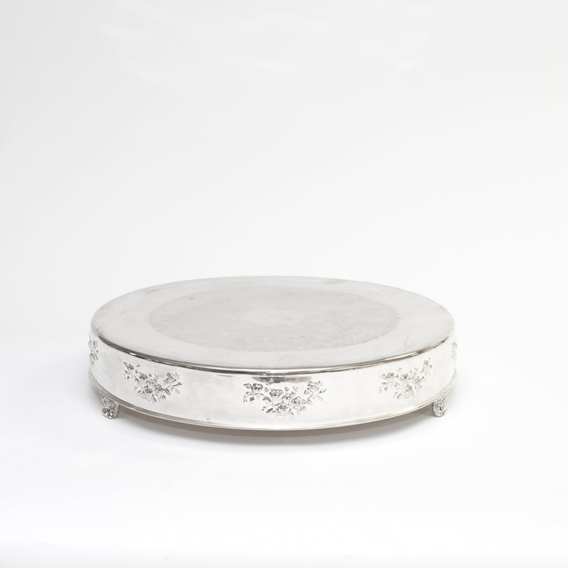 Silver Round Cake Stand 22""