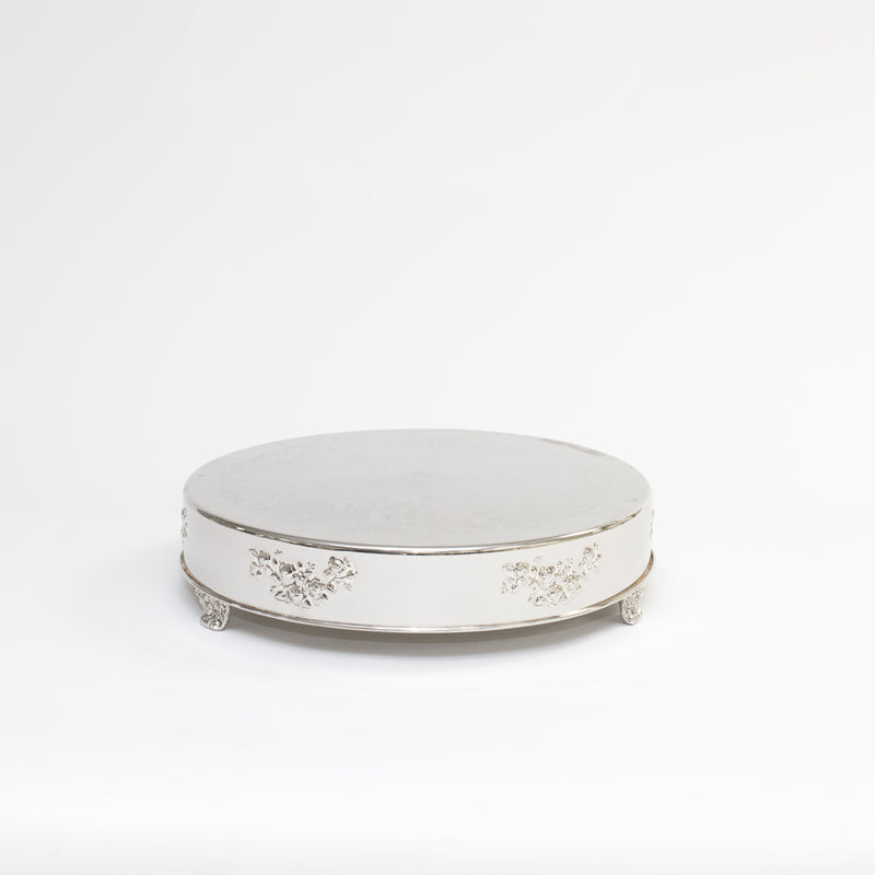 Silver Round Cake Stand 18""