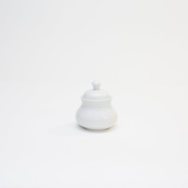 White Sugar Bowl with Lid