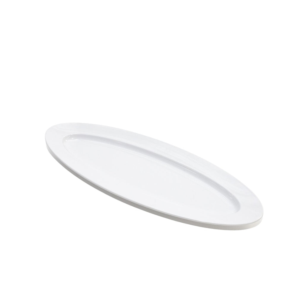 White Oval Ceramic Platter