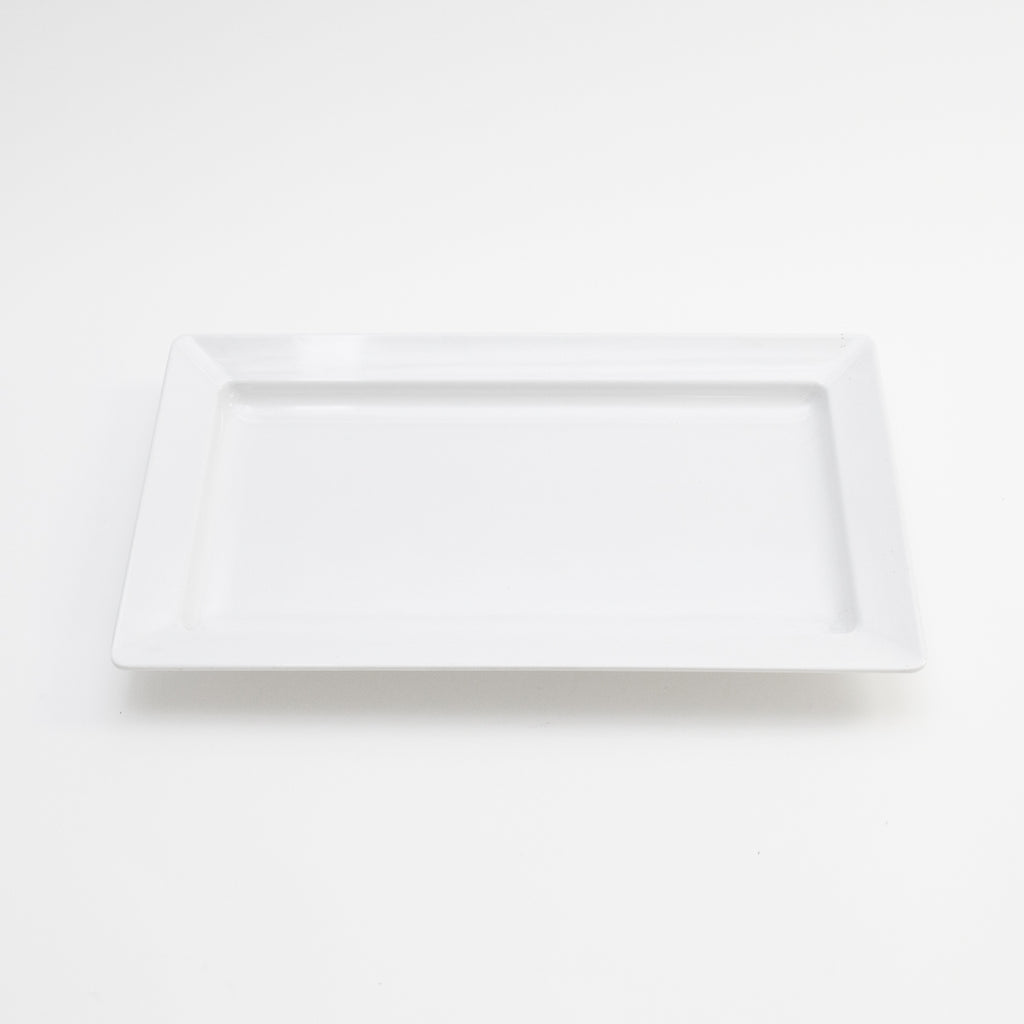 "White Rectangle Ceramic Platter 13"" x 20"""