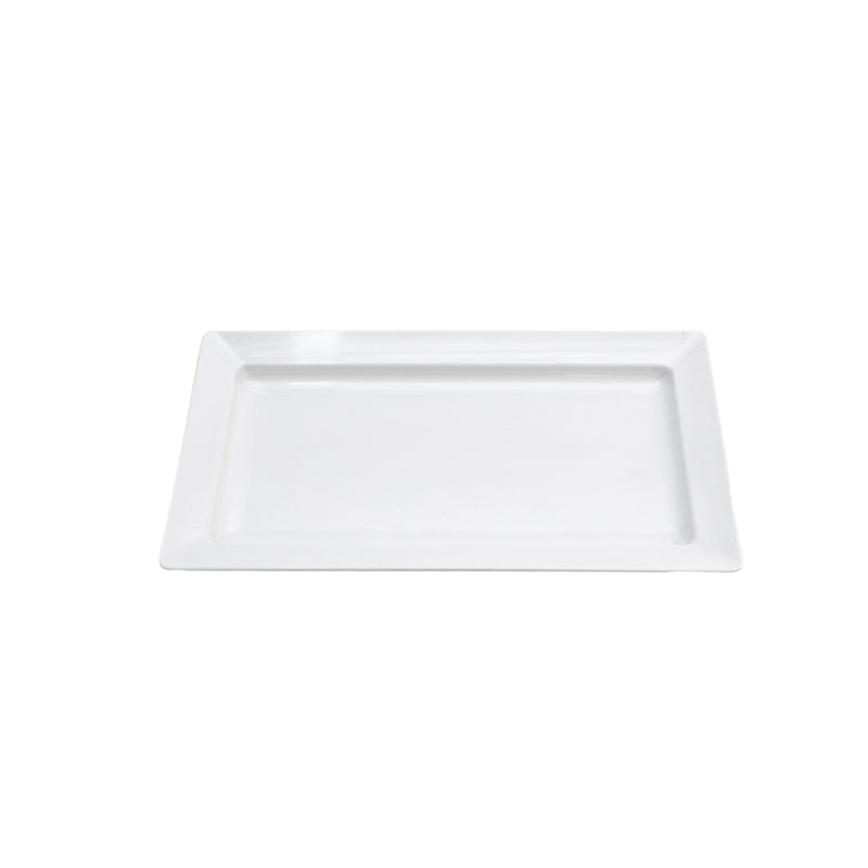 "White Rectangle Ceramic Platter 12""x18"""