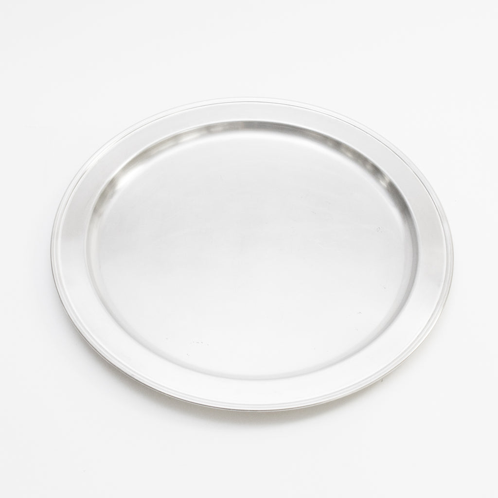 Silver Round Tray 20""