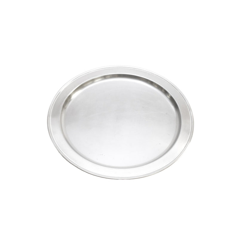 Silver Round Tray 12""