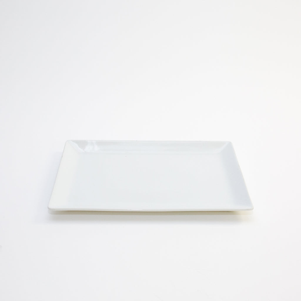 "White Rectangle Ceramic Platter 16"" x 10"""