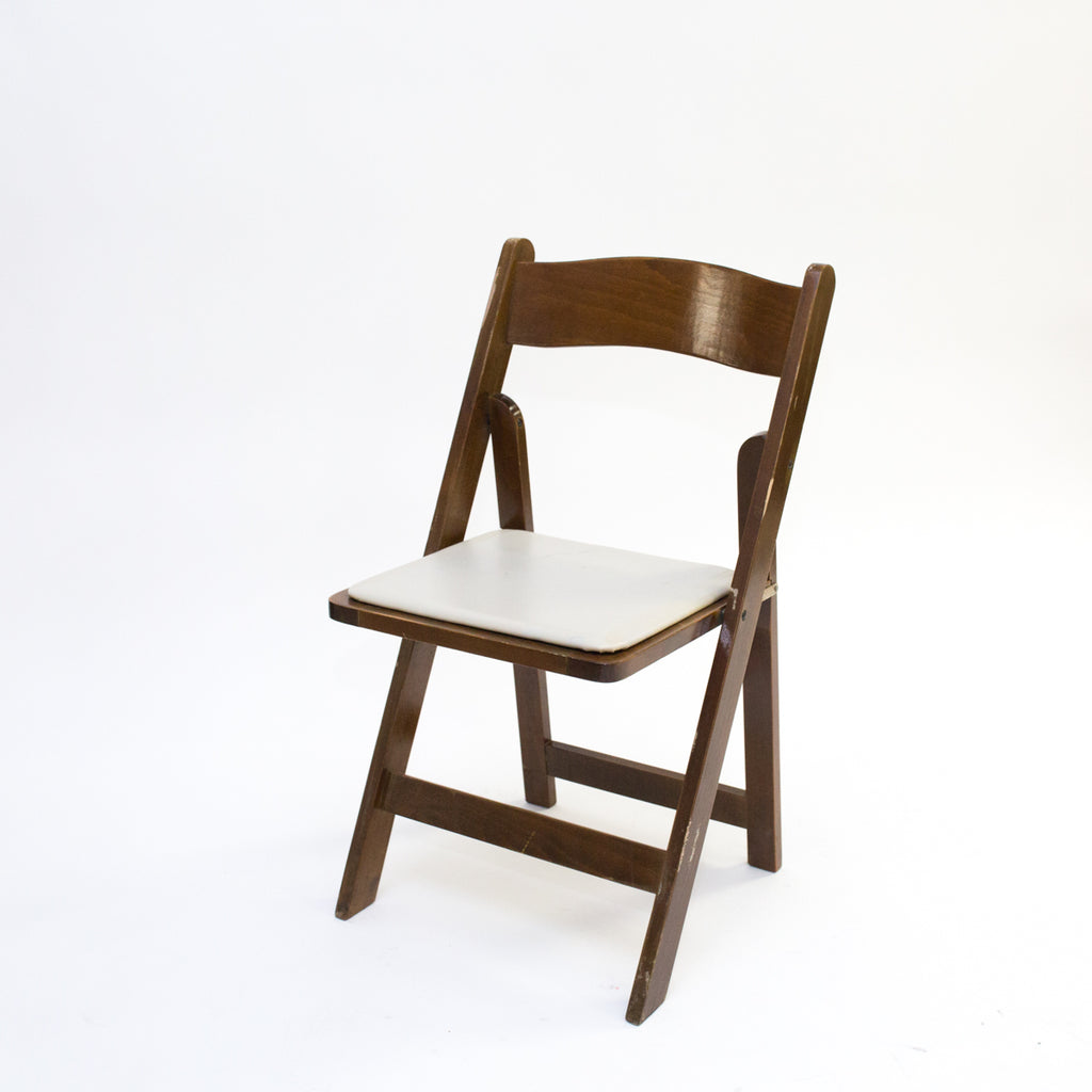 Fruitwood Garden Chair w/ Tan Pad