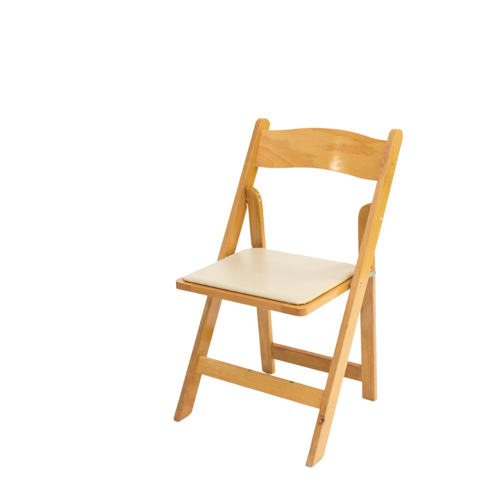 Natural Garden Chair w/ Tan Pad