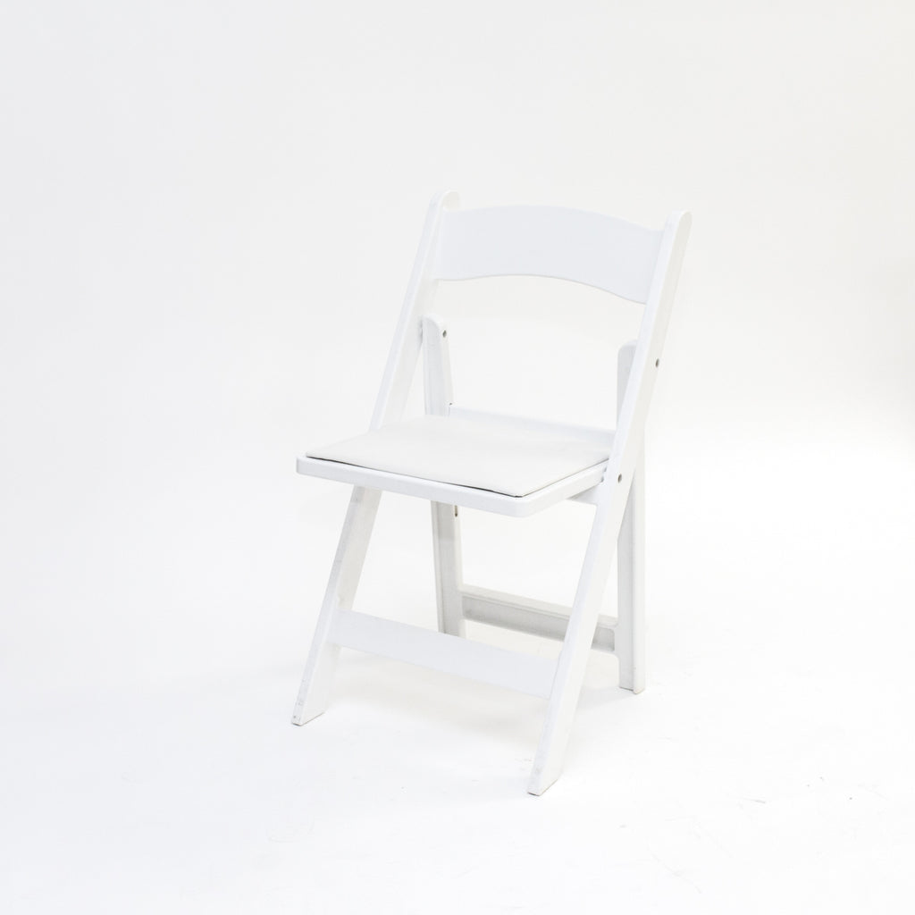 White Garden Chair w/ Pad