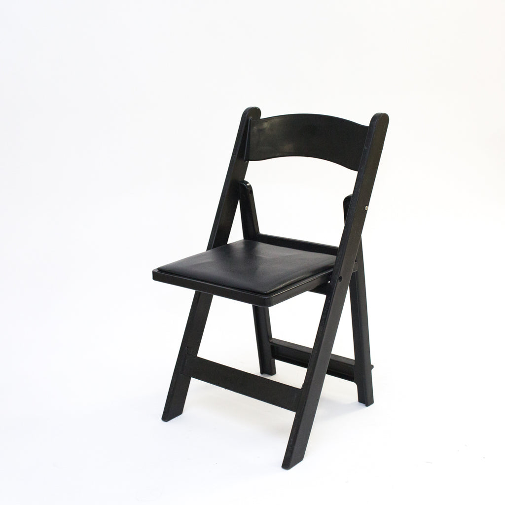 Black Garden Chair w/ Pad