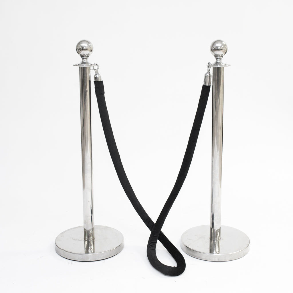 Black Velvet Stanchion Rope