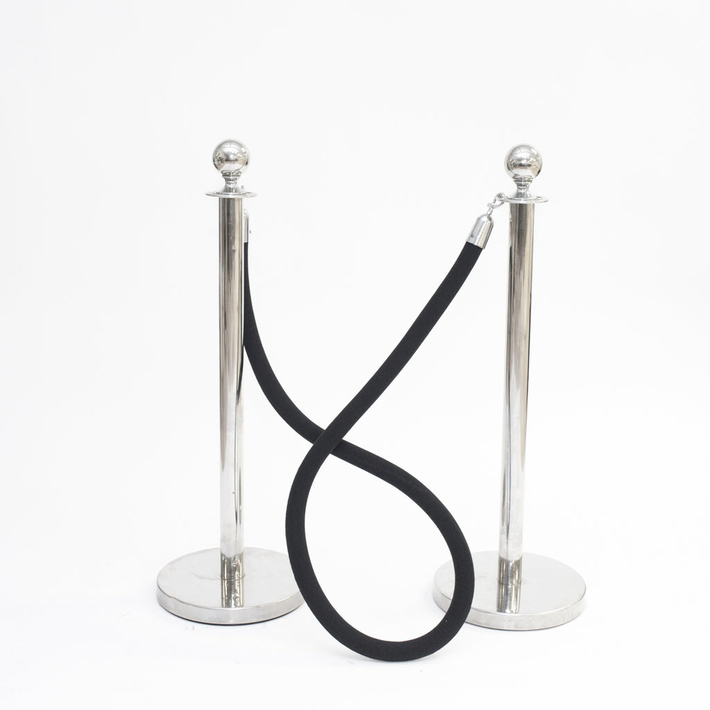 Black Velour Stanchion Rope