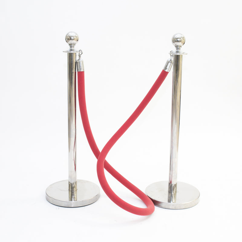 Red Velour Stanchion Rope