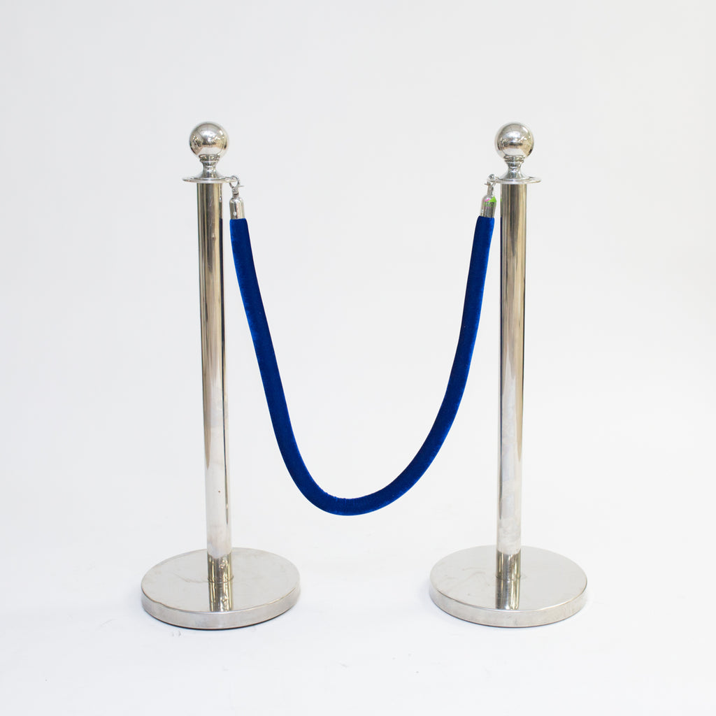 Blue Velour Stanchion Rope 5'