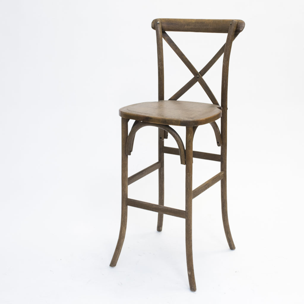 Antique Crossback Barstool
