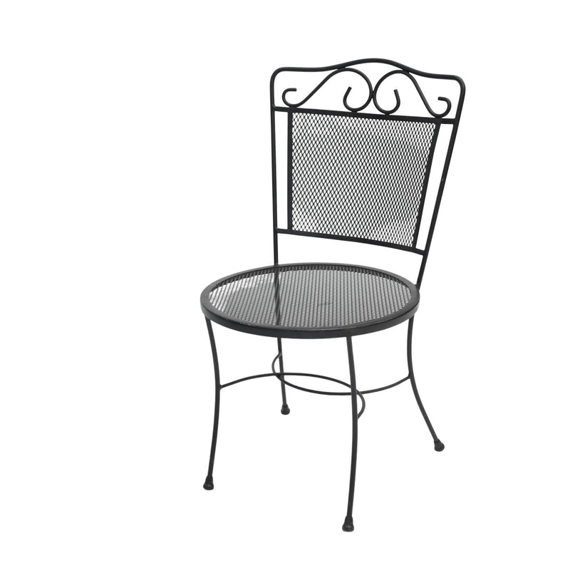 Black Bistro Wrought Iron Chair