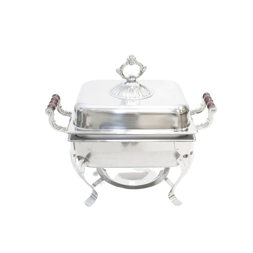 Stainless Rolltop 4 qt. Square Chafer