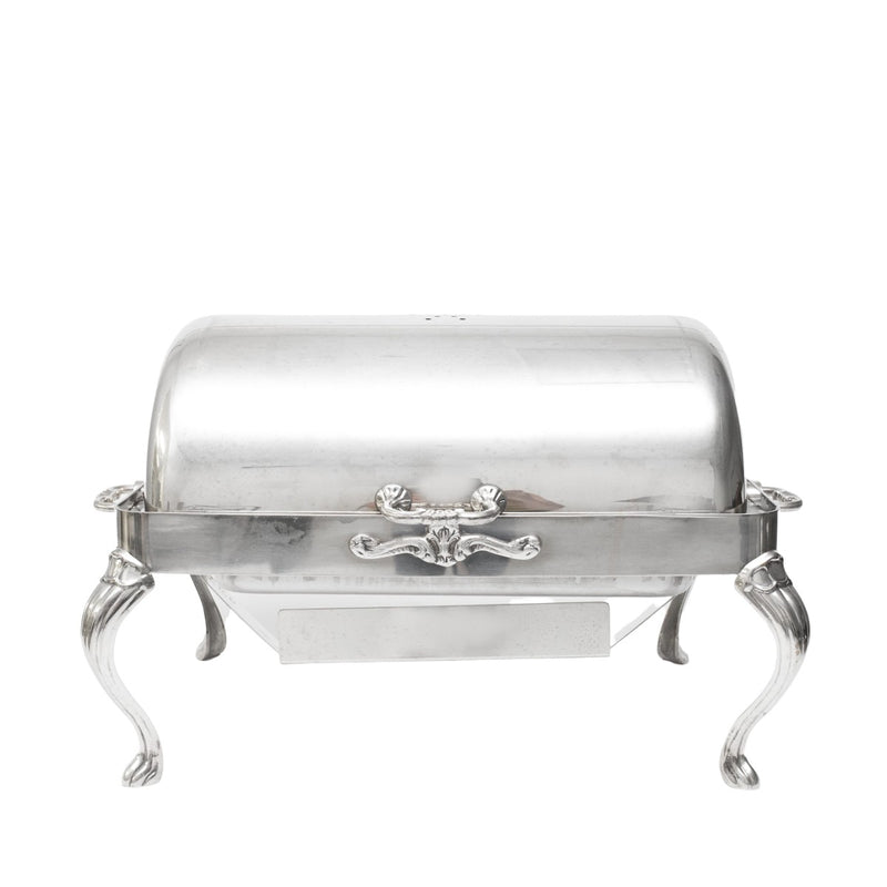Silver Rectangle 8qt. Rolltop Chafer