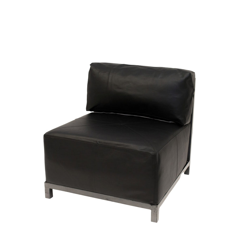 Black Leather Axis Chair
