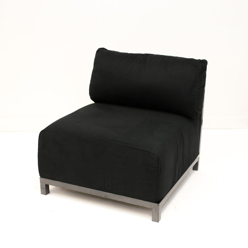 Black Suede Axis Chair