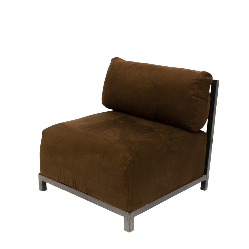 Chocolate Suede Axis Chair