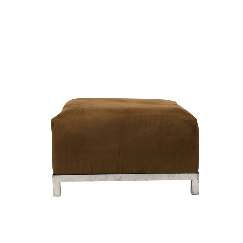 Chocolate Suede Axis Ottoman