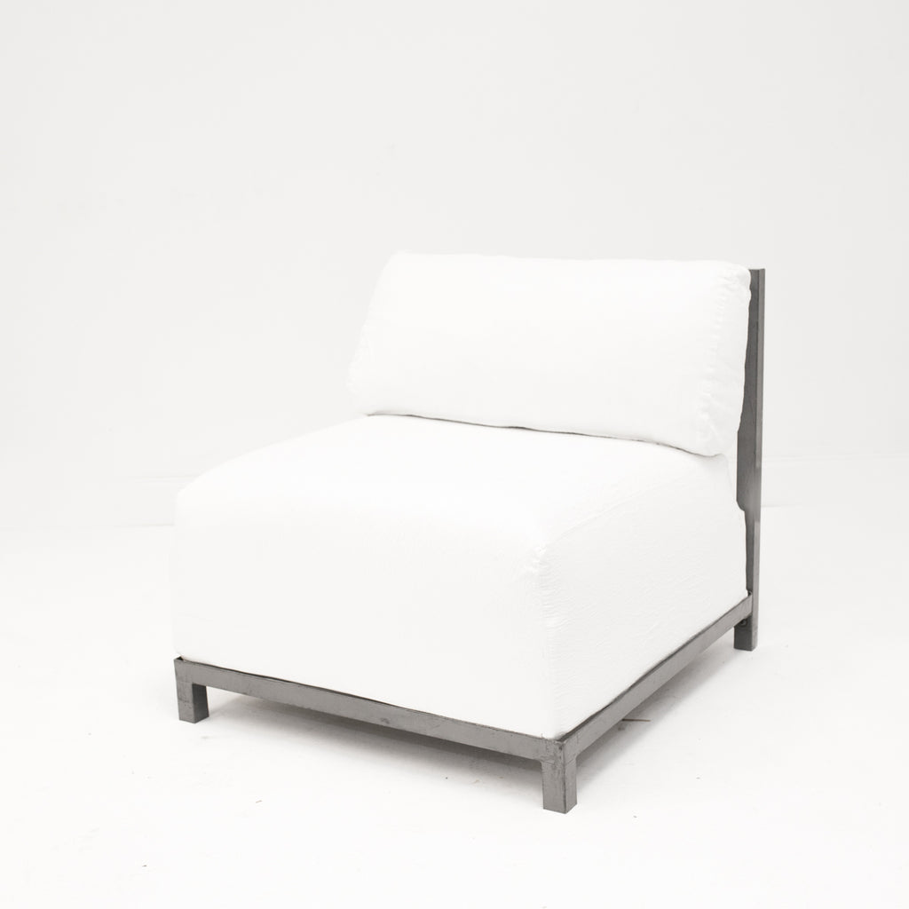 White Suede Axis Chair