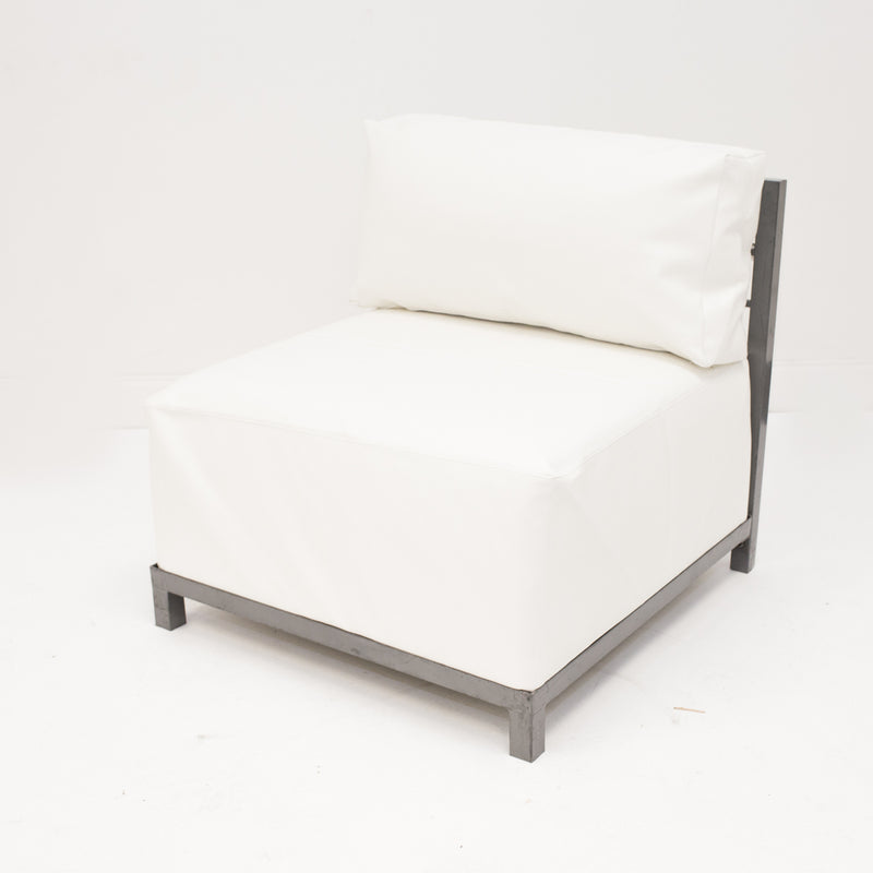 White Leather Axis Chair