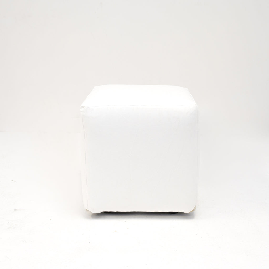 White Suede Axis Cube