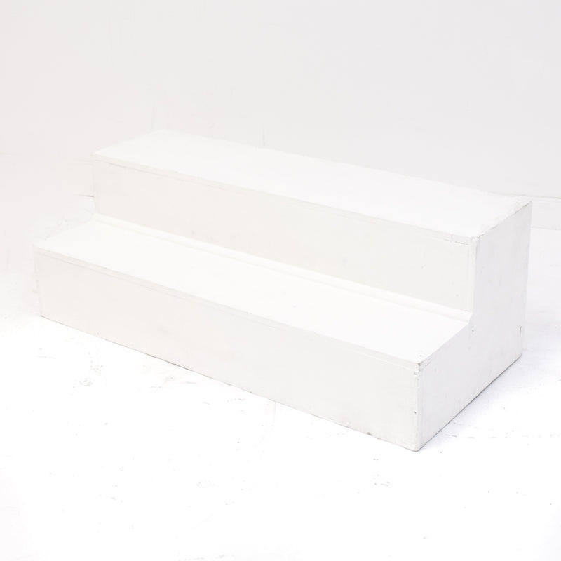 White Surround Stage Steps
