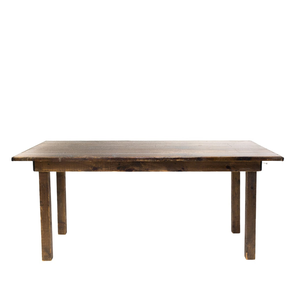 "8' Dark Brown Farm Table 42""H"