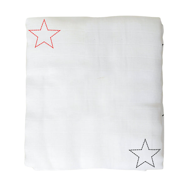 Organic Cotton Muslin Baby Blanket - Under the Stars - Clearance