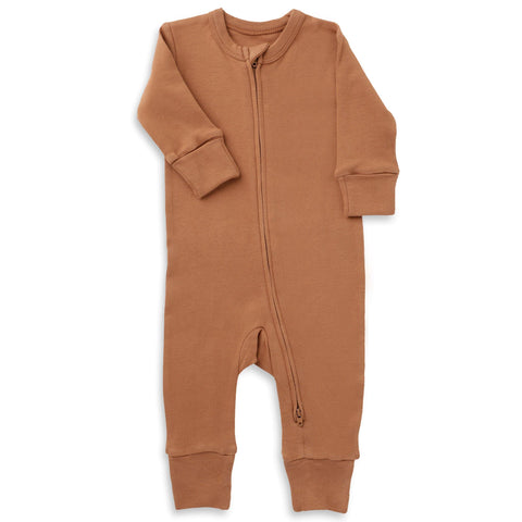 Organic Cotton '2 - Way' Zippered Romper - Aubrey Ginger