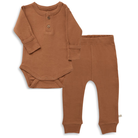 Organic Cotton Top & Bottoms Set - Aubrey Ginger
