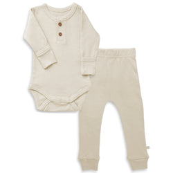 Organic Cotton Top & Bottoms Set - Eli Oat
