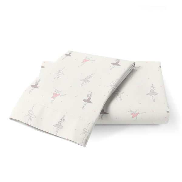 Organic Cotton Toddler Pillowcase - Lola Blush Ballerina - Clearance