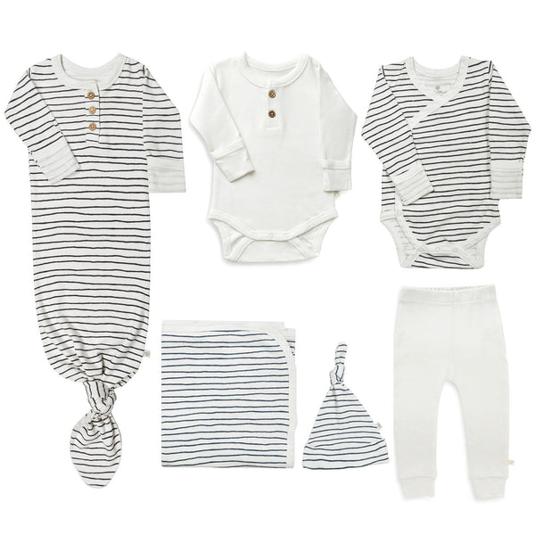Newborn Gift Bundle - Cobi Blue Stripes