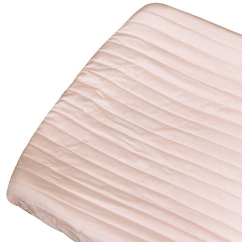 Organic Cotton Changing Pad Cover - Peony Blush
