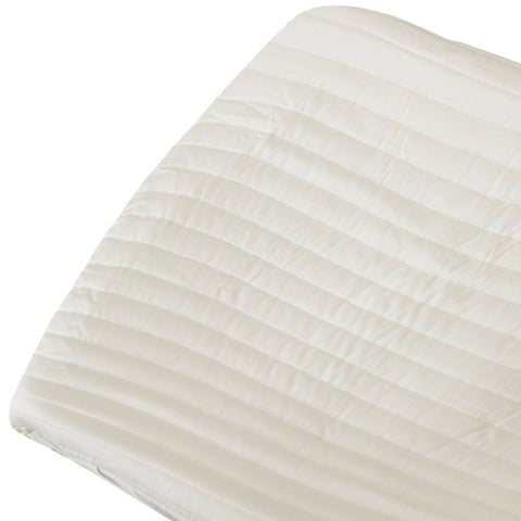 Organic Cotton Changing Pad Cover - Vanilla White