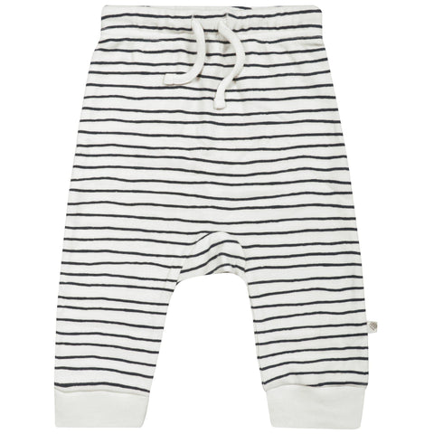 Organic Cotton Harem Pants - Cobi Blue Stripes