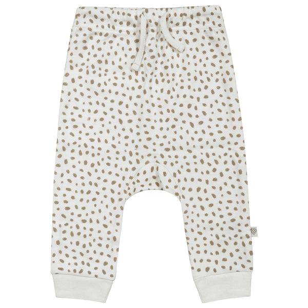 Organic Cotton Harem Pants - Nola Brown Dots-Makemake Organics