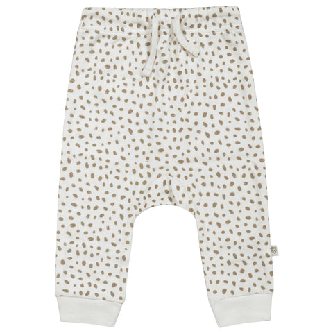 Organic Cotton Harem Pants - Nola Brown Dots