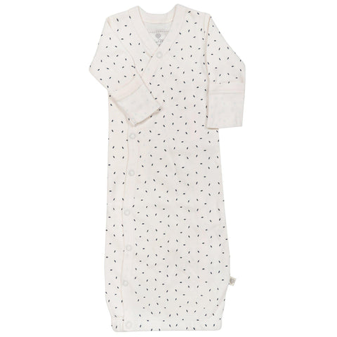 Organic Cotton Kimono Sleep Gown - Cobi Blue Fleck