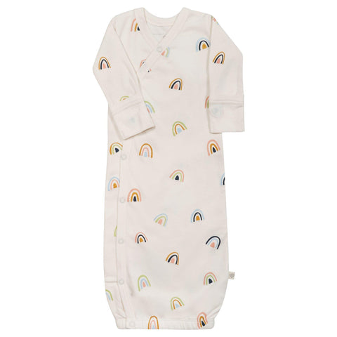 Organic Cotton Kimono Sleep Gown - Rainbow