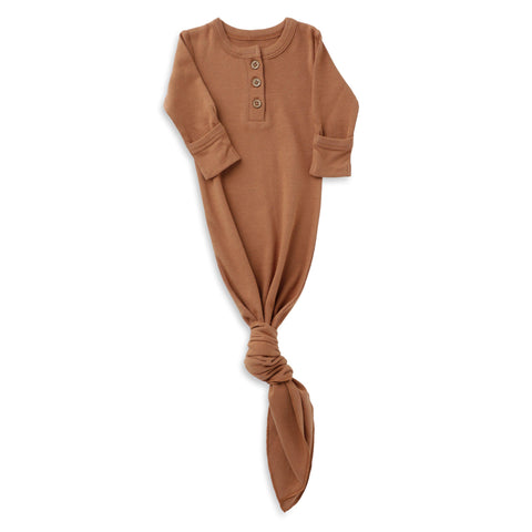 Organic Cotton Knotted Sleep Gown - Aubrey Ginger