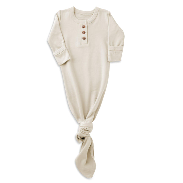 Organic Cotton Knotted Sleep Gown - Eli Oat-Makemake Organics