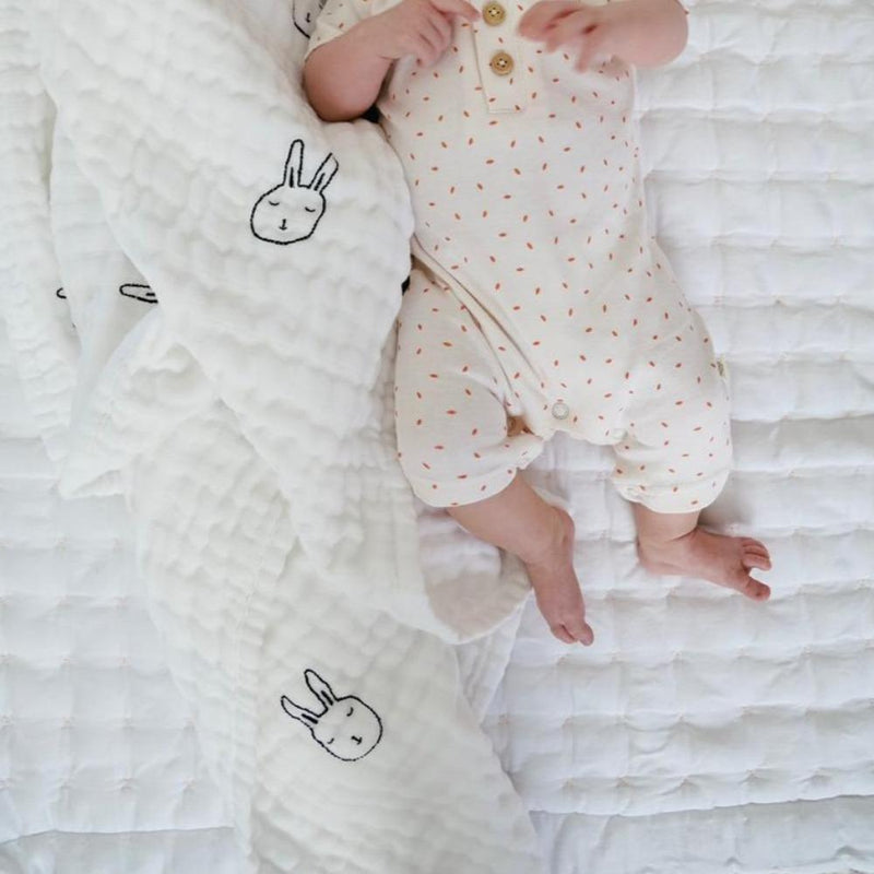 Organic Cotton Muslin Baby Blanket - Under the Stars-Makemake Organics