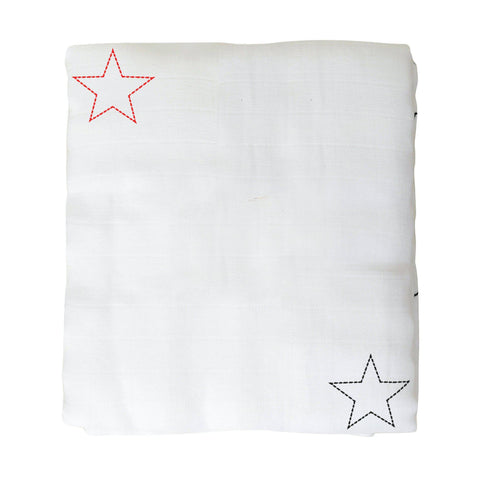 Organic Cotton Muslin Baby Blanket - Under the Stars