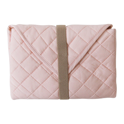 Organic Cotton Portable Changing Mat - Peony Blush