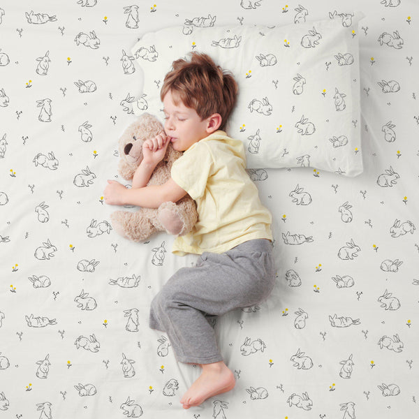 Organic Cotton Sheet Set - Bunny in the Meadow-Makemake Organics